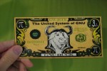 "Get paid ""GNU Bucks"" by the Free Software Foundation"
