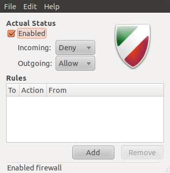 3 graphical clients for managing the Uncomplicated FireWall