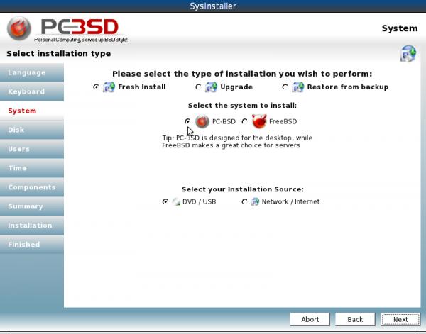 PCBSDinstall