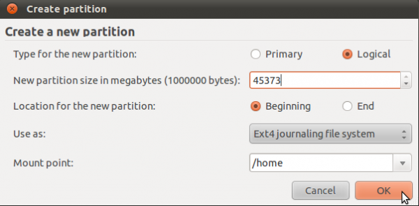 how to know which partition linux is on