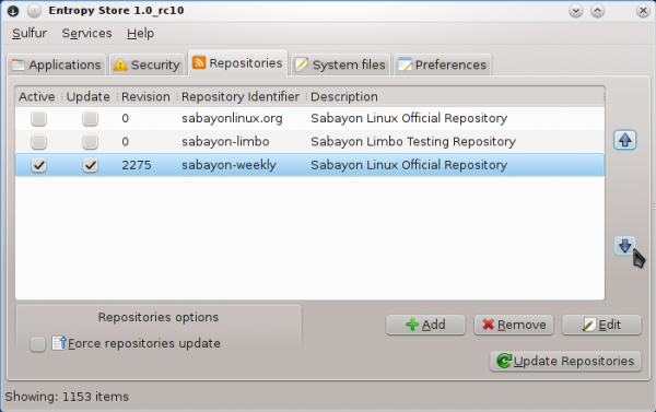 Sabayon Linux Sulfur Repositories