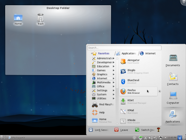 Lancelot on Fedora 15 KDE