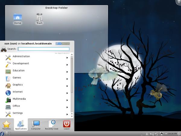 Fedora 15 KDE Desktop