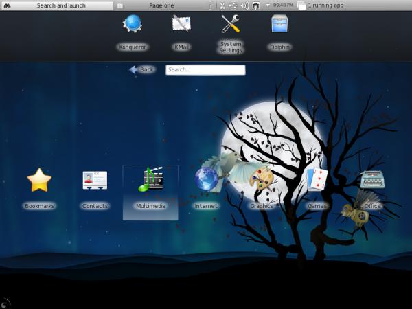 Fedora 15 KDE Desktop Netbook