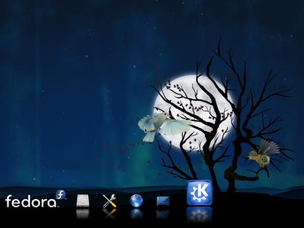 Fedora 15 KDE booting