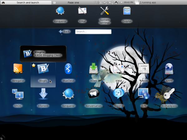 Fedora 15 KDE netbook apps