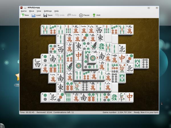 Mahjongg on Sabayon Linux 6 KDE