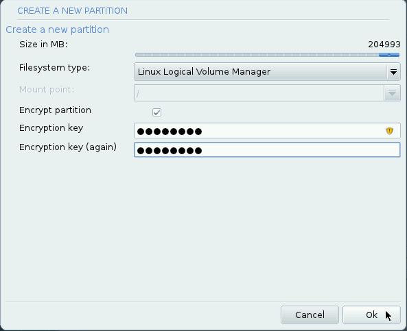 Mageia LVM setup 5
