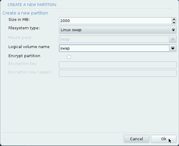 Mageia LVM setup 10