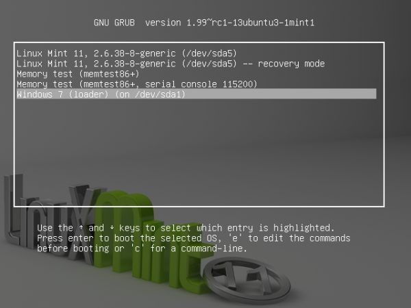 How to replace GRUB with BURG on Linux Mint 11