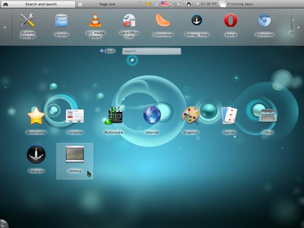 Sabayon 6 KDE Plasma Netbook