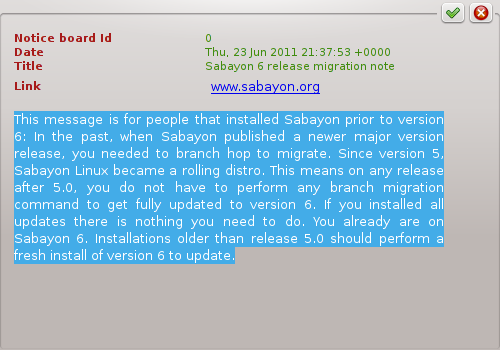 Sabayon 6 Rolling Updates