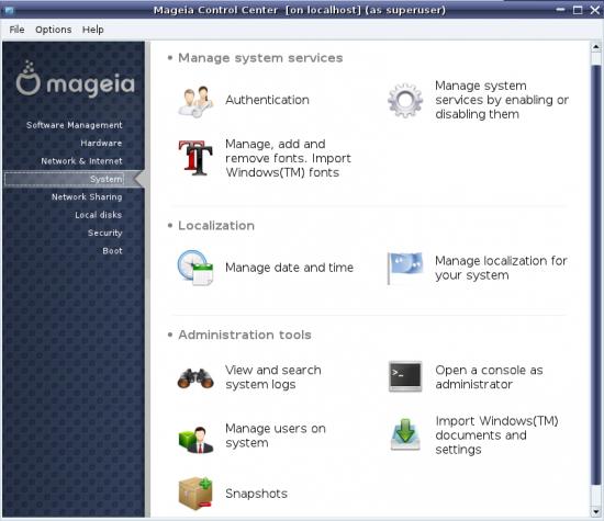 Mageia Control Center