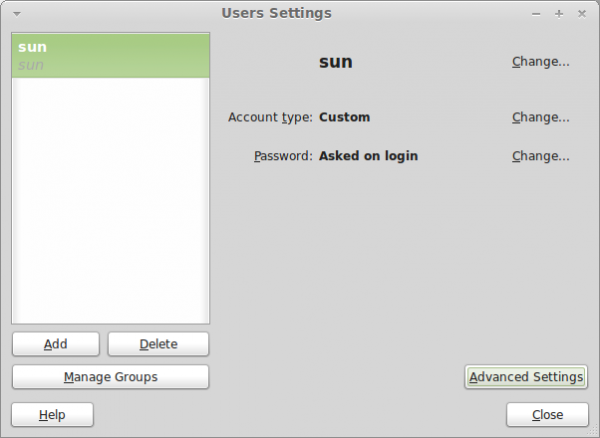 Guest session and user management on Linux Mint 11