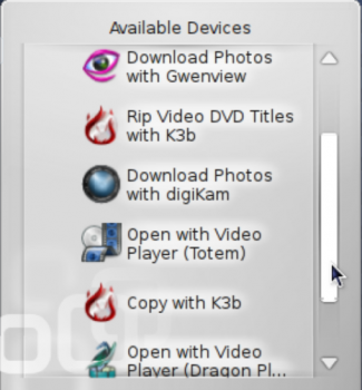 KDE play DVD video options