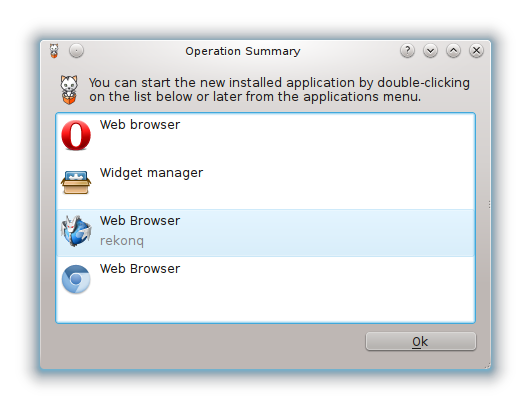 Package Manager on Pardus 2011.1