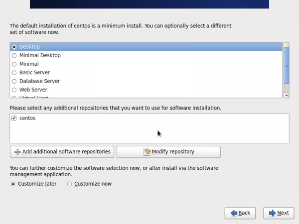 CentOS 6 Application Options