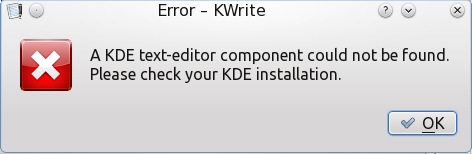 KWrite Error on PCLinuxOS 2011.6