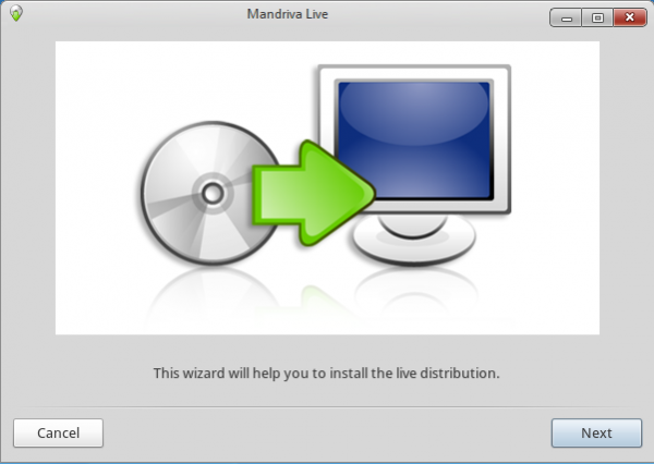Initial Install Screen on Mandriva Desktop 2011