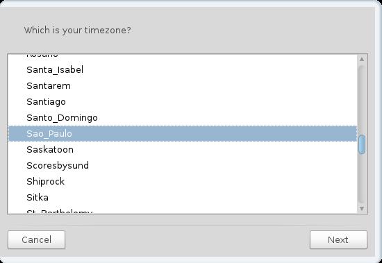 Mandriva Desktop 2011 Timezone Selector