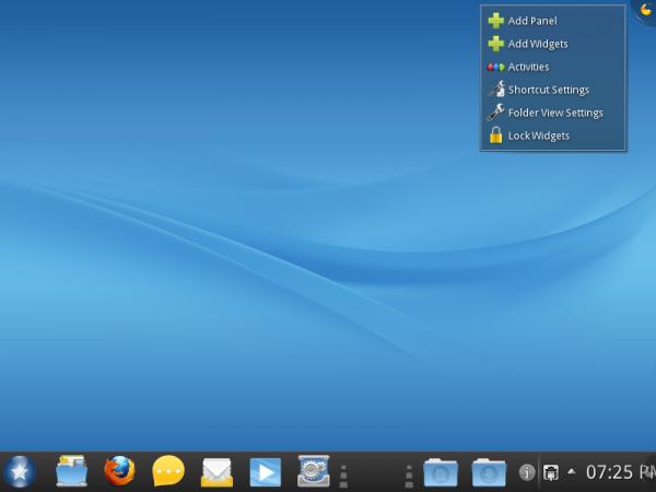 Mandriva Desktop 2011 RC2 KDE Plasma Desktop