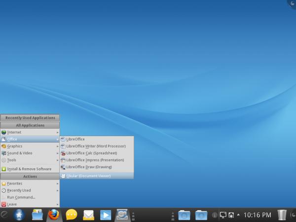 Mandriva Desktop 2011 Classic Menu