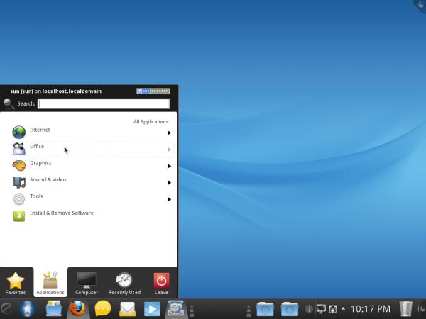 Mandriva Desktop 2011 Kickoff Menu