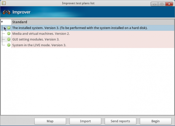 Mandriva Desktop 2011 Improver Test Options