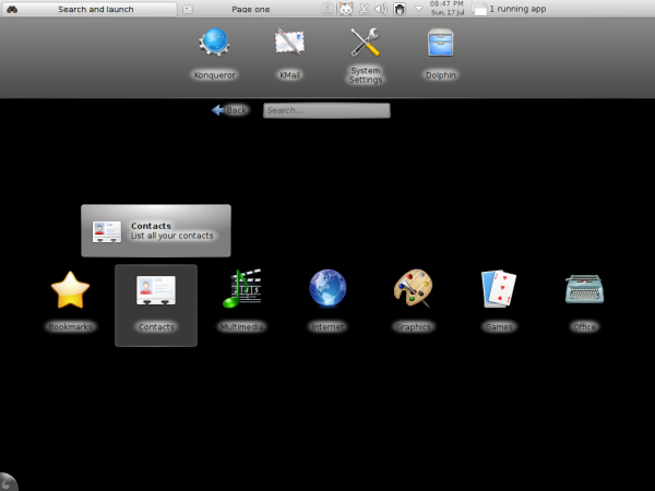 Pardus 2011.1 Dama Dama KDE Netbook Desktop