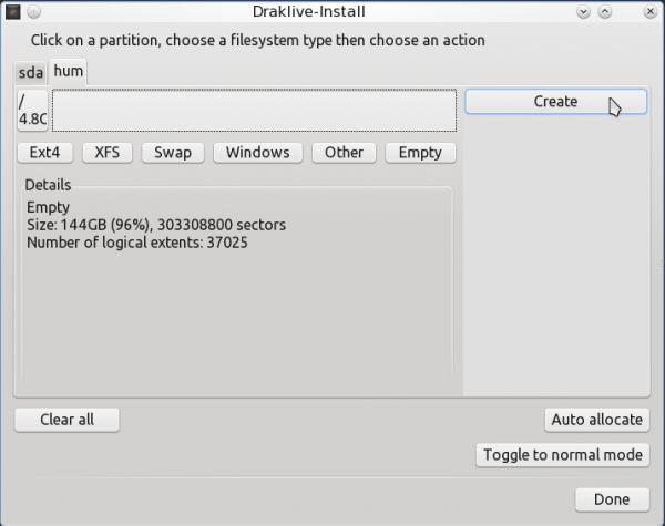 PCLinuxOS 2011.6 Encrypted LVM 11