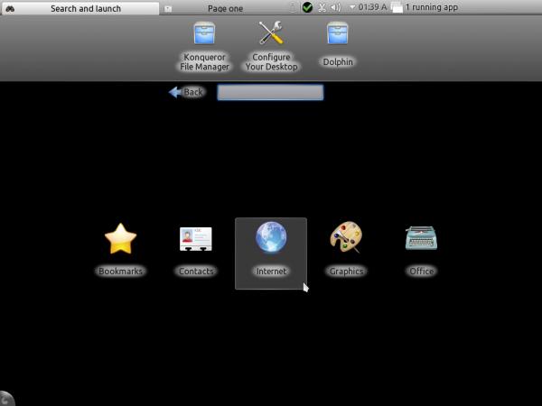 PCLinuxOS KDE Desktop Menu