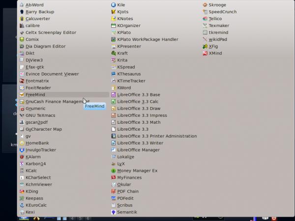 PCLinuxOS Fullmonty Classic menu