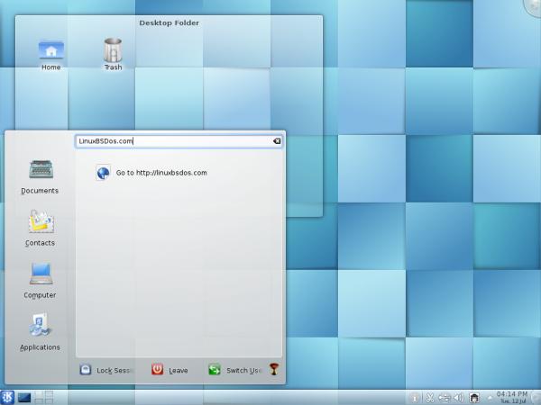 Pardus 2011.1 Desktop Lancelot Menu