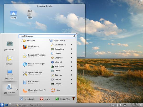 Pardus 2011.1 Dama Dama Desktop