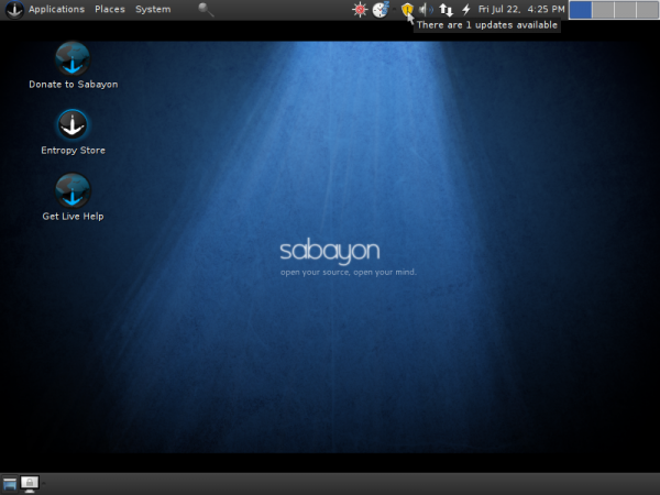 Sabayon 6 GNOME Desktop