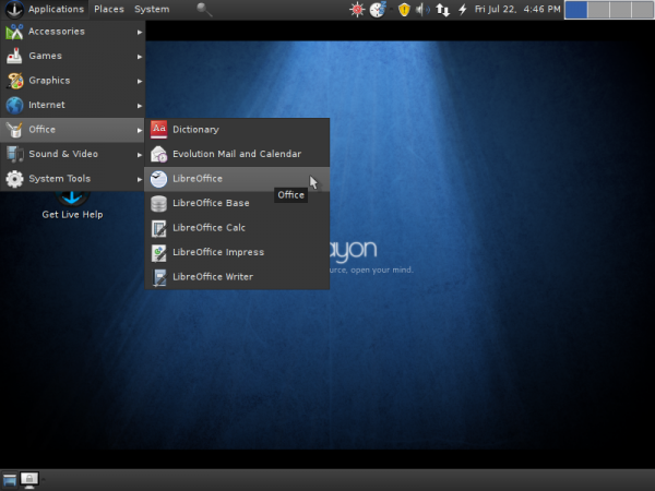 Sabayon 6 GNOME Office Software