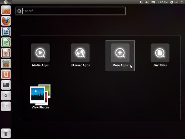Ubuntu 11.10 Oneiric Ocelot App Category