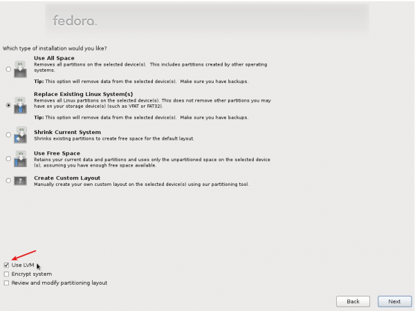 Feature preview of Fedora 16 installer
