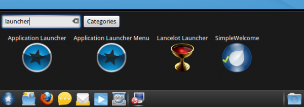Menu Widgets on Mandriva 2011