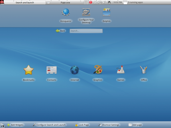 Mandriva 2011 KDE Plasma Netbook