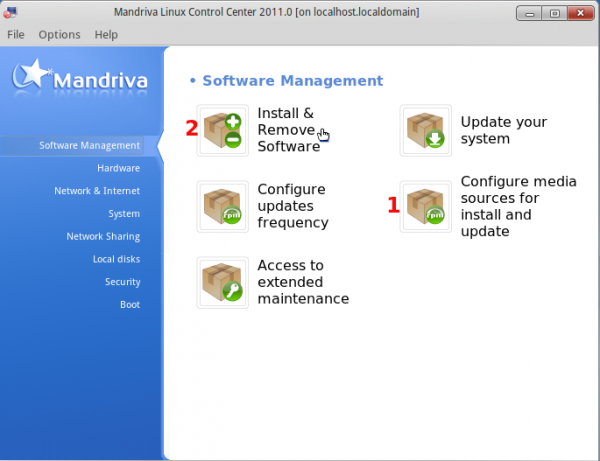 Mandriva 2011 Software Management