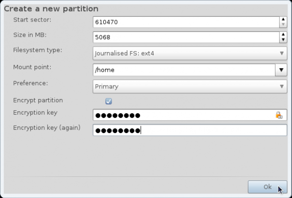 Mandriva 2011 Home Encryption