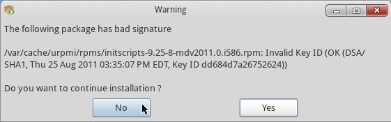 Mandriva 2011 Update Error