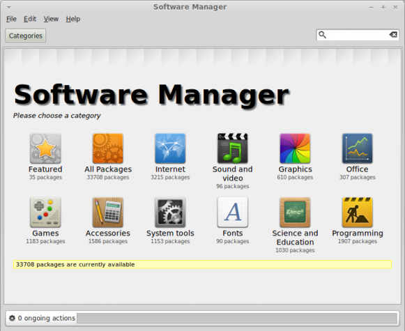 Linux Mint Software Manager Main View