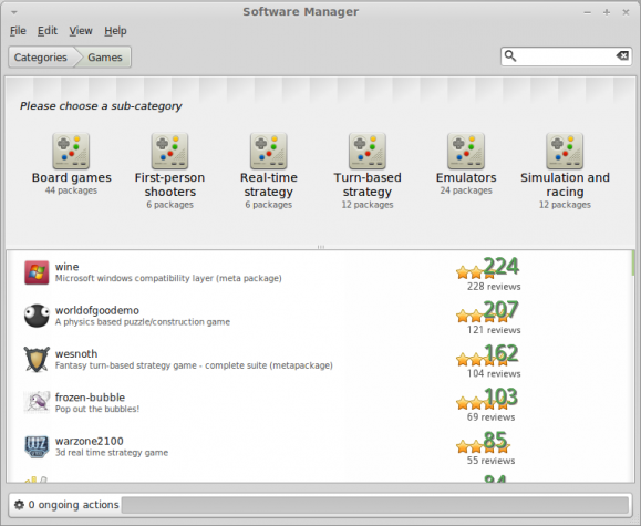 Linux Mint Software Manager Category View
