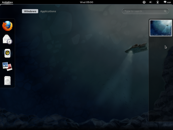 GNOME 3 Activities on Fedora 16