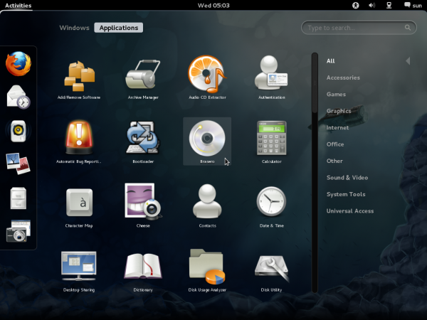 GNOME 3 Application on Fedora 16