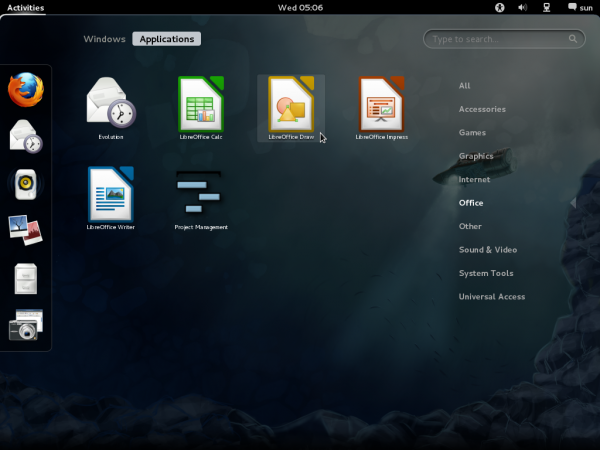 LibreOffice on Fedora 16