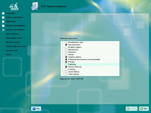 ALT Linux KDesktop Install Profiles
