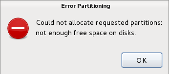 Linux Disk partition guide Error